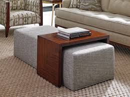 Living Room Table Sets With Storage by Ottoman As Table Unique Coffee Large Square Upholstered Clear