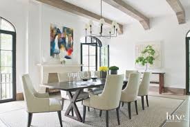 Colorful Artwork Pop In A Neutral Dining Area