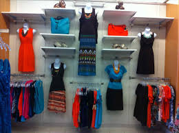 U Free Standing Shelving Unit See More Mounted Clothing Store Wall Display Ideas Rack