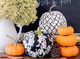 Fake Carvable Plastic Pumpkins by Trendy Fabric Covered Pumpkins Hgtv
