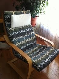 Poang Rocking Chair For Breastfeeding by Ikea Chair Design Make A Brand New Slipcover For Your Ikea Poang