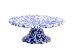 Marbled Enamelware Cake Stand