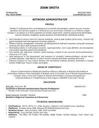Computer Network Administrator Resume Sample A Template For You Can Download It