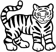 Free Tiger Coloring Page