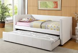 Contemporary Style White Twin Size Platform Day Bed and Twin