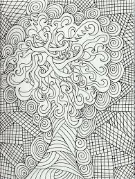 Geometric Challenging Free Adults Coloring Pages