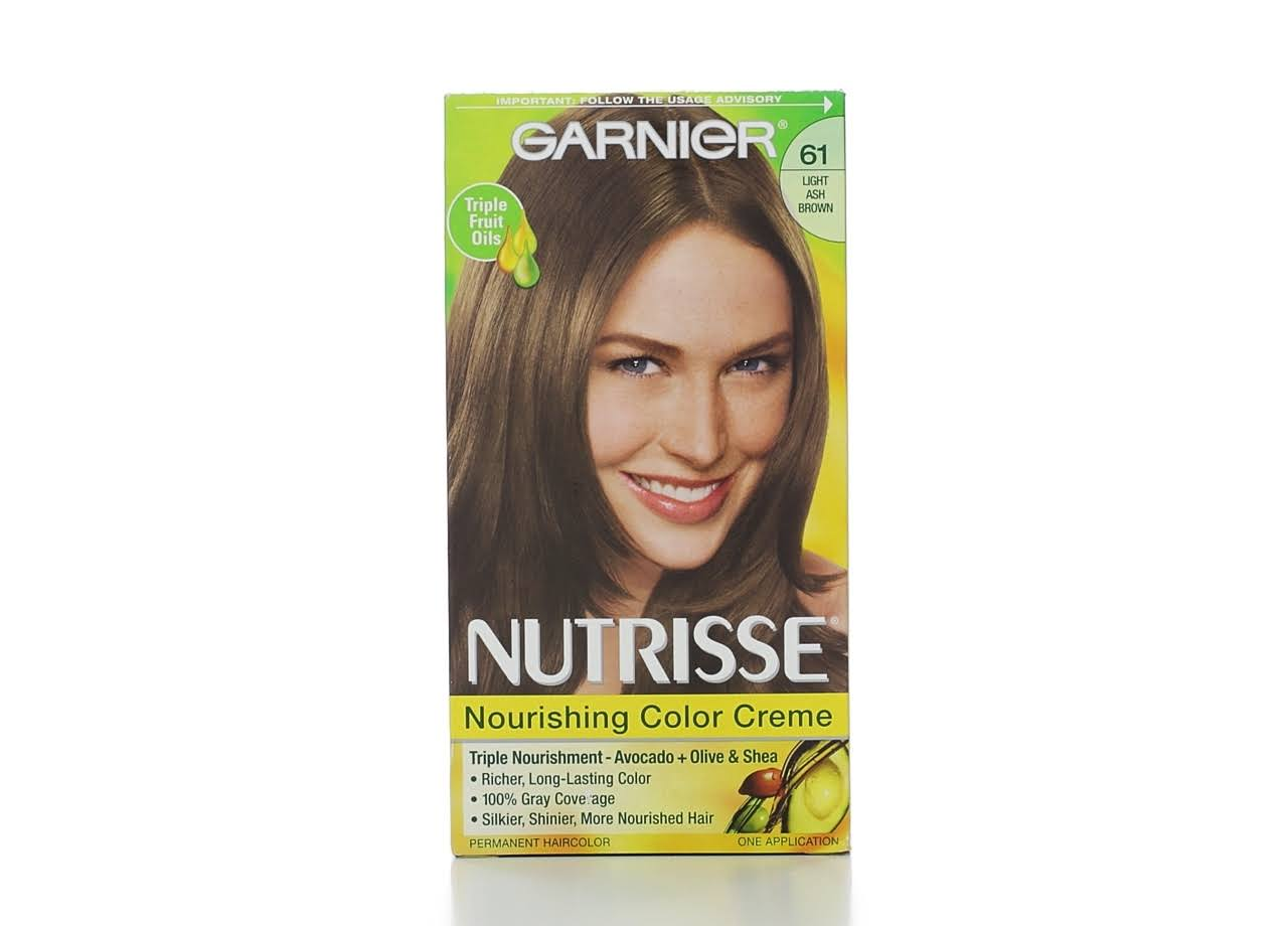 Garnier Nutrisse Hair Nourishing Color Creme - 61 Light Ash Brown