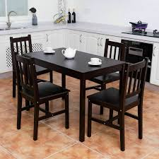 5 Piece Wood Dining Table Set 4 Chairs Home Kitchen Breakfast Furniture  Brown Table Round Kitchen Sets For 6 Solid Wood Small And Chairs The Nook A Casual Kitchen Ding Solution From Kincaid Fniture 1990s Mission Stickley Oak Ding Nottingham Rustic Black Room Set Enchanting Argos Charming Podge 5 Pc Kngs Brand Metal Dnng Blank Slate Coffee Buy Online At Overstock Our Best Antique Classic Single Pedestal By Intercon Wayside