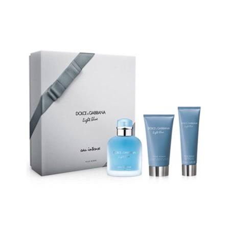 Dolce and Gabbana Light Blue Pour Homme Intense Trio Gift Set - 3pcs