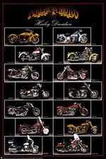 Motorcycle Harley Davidson Poster Print 24x36