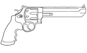 Pin Drawn Pistol Revolver Gun 5