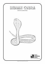 Indian Cobra Coloring Page