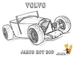 Hot Rod Coloring Pages Macho Muscle Car Printables Free Pictures