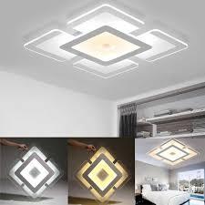 acryl moderne led decke lichter platz panel unten licht küche schlafzimmer wohnzimmer wand le 110v 220v kühles weiß warm weiß