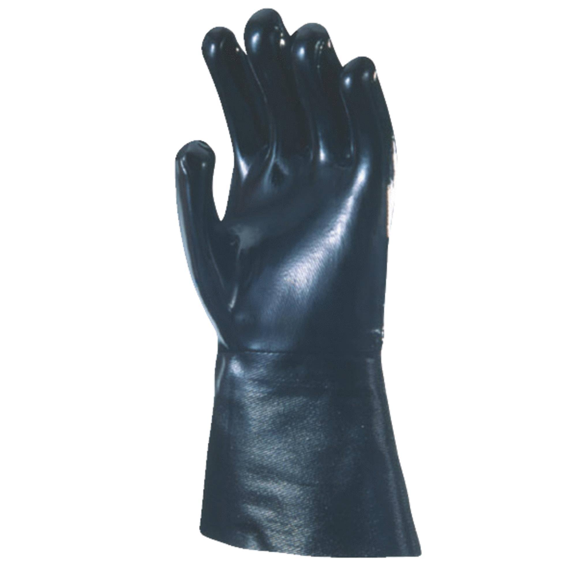 "Wells Lamont Pro Chemical Neoprene Gloves - 1 Size Fits All, 12"", Black"