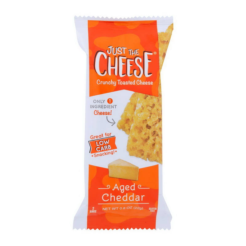 Just The Cheese Cheese Bars, Aged Cheddar - 2 bars, 0.8 oz