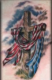 Drawn American Flag Crossed 11