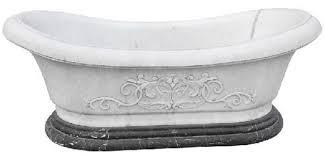 casa padrino luxus barock badewanne weiß schwarz 180 cm freistehende marmor badewanne bad accessoires edel prunkvoll