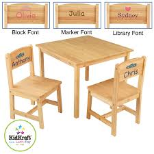 Kidkraft Star Childrens Table Chair Set by Guidecraft Little Farmhouse Kids Table And Chair Set Arm Wooden