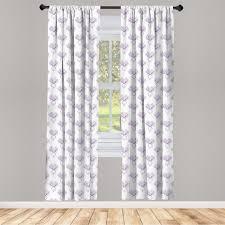 gardine fensterbehandlungen 2 panel set für wohnzimmer schlafzimmer dekor abakuhaus gemüse monochrome beet muster kaufen otto