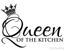 Wall Quote Queen Of The Kitchen Vinyl Decal Graphics Home Decor