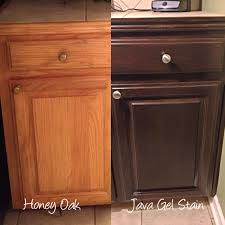 Im Refinishing My Honey Oak Kitchen Cabinets With General Finishes Java Gel