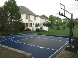 Exterior, Dazzling Plan With Pretty Backyard Basketball Court Also ... Multisport Backyard Court System Synlawn Photo Gallery Basketball Surfaces Las Vegas Nv Bench At Base Of Court Outside Transformation In The Name Sketball How To Make A Diy Triyaecom Asphalt In Various Design Home Southern California Dimeions Design And Ideas House Bar And Grill College Park Half With Hill