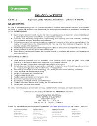 dental front office resume resume for study
