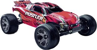 100 Rc Model Trucks Traxxas Rustler VXL Brushless 110 RC Model Car Electric Truggy RWD