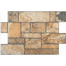 Gbi Tile And Stone Madeira Buff by Shop Style Selections 16 In X 24 In Carmen Brown Glazed Porcelain