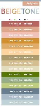 Beige Tone Color Scheme Web Colors