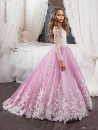 custom flower dresses princess kids pageant party gown ball