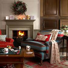 Christmas Living Room Country Decorating Idea Style Ideas