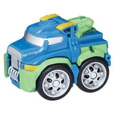 100 Rescue Bots Fire Truck Transformers Flip Racers HOIST The TowBot