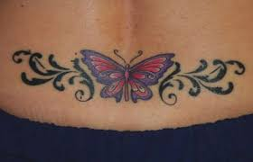 Pictures Of Butterfly Abstract Tattoos On Lower Back