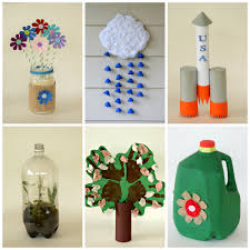 6 Kid Friendly Earth Day Crafts Made From Recycled Materials