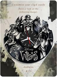 Disney Pumpkin Carving Patterns Villains by Disney Villains Vinyl Record Clock Wall Clock Vinyl Clock Kids