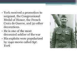 Most Decorated Soldier Ww1 by Wwi Begins Through Alvin York Notes