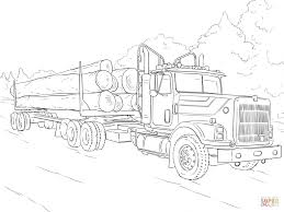 Truck Coloring Pages Log Page Free Printable To Download