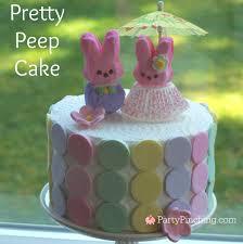 Pretty Peep marshmallow bunny cake for Easter DIY tutorial recipe