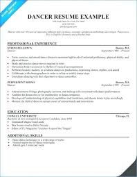 Dance Resume Samples For College Examples Templates Best Of Dancer Sample