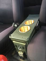 100 Truck Cup Holder 40mm Ammo Can Center Console With Brass Cup Holders Dream Jeep