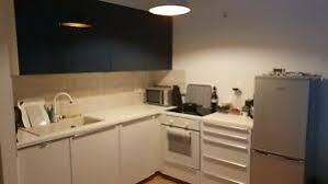 details zu ikea metod küche 240x185 cm l form ringhult hochglanz weiß blau ohne elektro