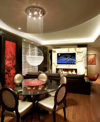 funky dining room light fixtures for low ceiling with glass
