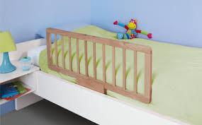 Quiet Night natural wood and easy to install child safety bed rail