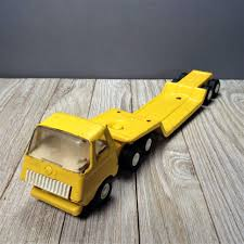 100 Tonka Mini Trucks Tiny Lowboy Truck 695 Vintage 11 Flatbed Etsy