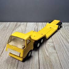 100 Vintage Tonka Truck Tiny Lowboy 695 11 Flatbed Etsy