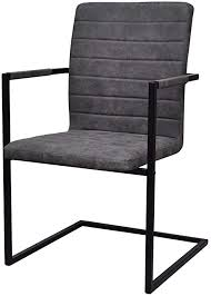 vidaxl 2x freischwinger lehnstuhl schwingstuhl küchenstuhl