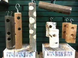 Log suet feeders Garden Pinterest