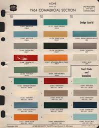 100 Ford Truck Colors Paint Chips 1964 Paint